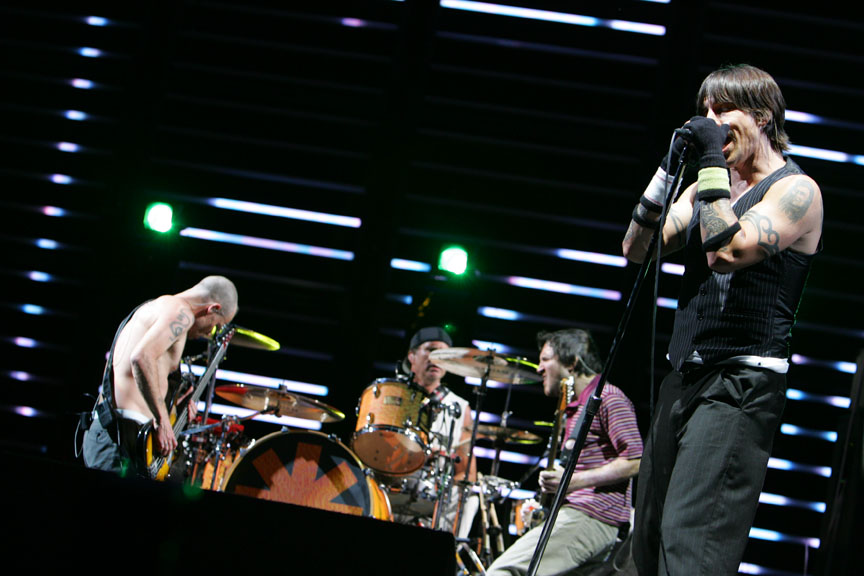 Red Hot Chili Peppers perform at Coachella 2007