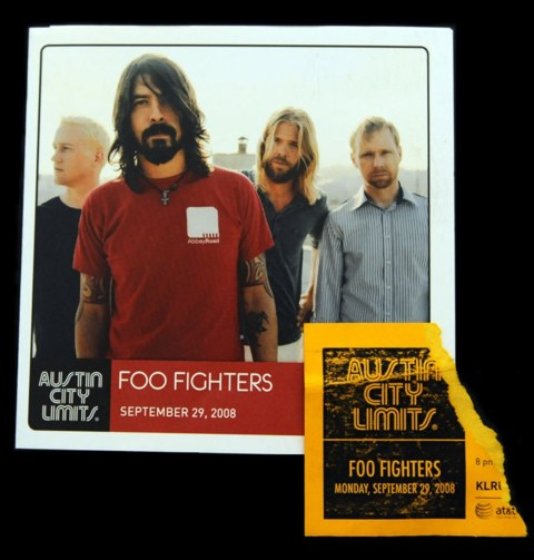 Foo Fighters Austin City Limits Program and Ticket Stub