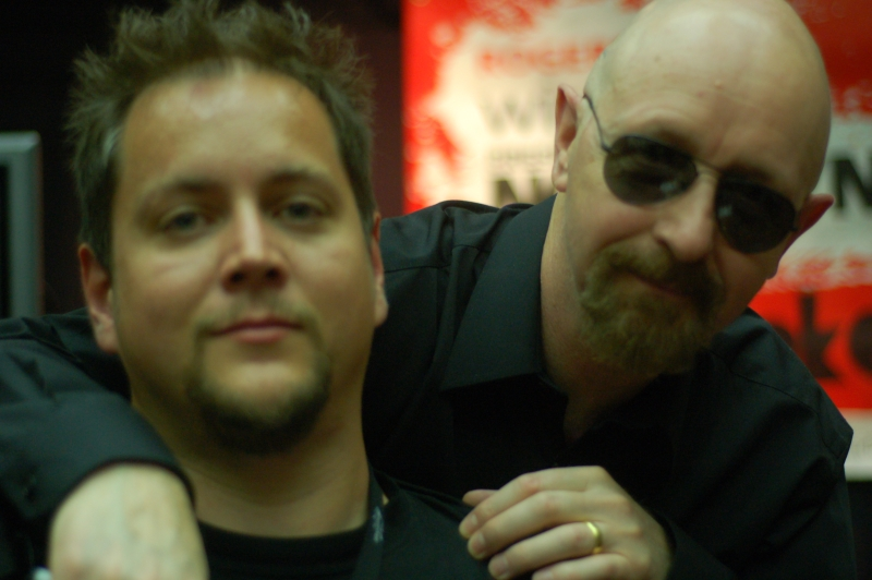 club kingsnake editor Clint Gilders with Rob Halford